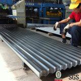 亜鉛上塗を施してある波形シートか亜鉛屋根シートまたは電流を通されるシートに屋根を付ける