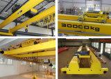 Guindastes de viagem materiais das despesas gerais do equipamento de levantamento 20 toneladas