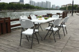 Outdoor Used 180cm Plastic Folding Rectangular Table