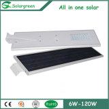 Réverbère solaire de lanterne de DEL avec la batterie LiFePO4 2 ans de garantie