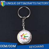 Vente chaude faite sur commande d'Amazone Ebay de cadeaux de souvenir en métal de trousseau de clés de promotion