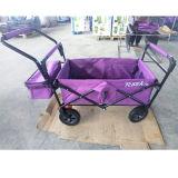 Vagão dobrável para crianças com dossel e cesta do armazenamento