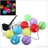 2 партии света шнура фонарика дюйма сад солнечных 10LED Fairy Multicolor напольный