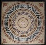 Telha de mármore do mosaico do medalhão
