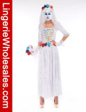 Costume Cosplay духа невесты привидения причудливый платья партии Halloween женщин