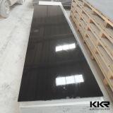 Surface solide noire en pierre artificielle de Corian pour la partie supérieure du comptoir