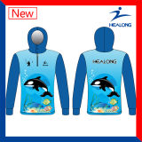 Blue Color Any Pattern Sublimation Sunscreen Fishing Jerseys Wears