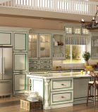 カスタマイズされた白い純木の自由に簡単な台所家具