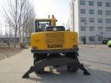 Nuevo pequeño excavador de rueda de compartimiento del amarillo 0.3m3