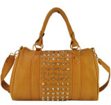 China Wholesale Moda PU Rivet Shoulder Hand Bag