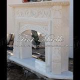 Bordi bianchi Mfp-550 del camino di Carrara del granito di pietra di marmo