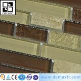 Azulejo de mosaico de cristal de la nueva del diseño de la mano del corte pared cristalina del oro