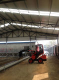 Animal que introduce telescópico de Capbility 800kg de la carga del cargador de la rueda para la granja