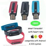 Bracelet sec de Bluetooth de chargeur de crayon lecteur avec la fréquence cardiaque Mornitoring (HB02)