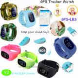 위장 색깔 Y2를 가진 최신 판매 아이 GPS 추적자 시계
