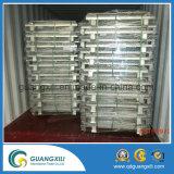 Conteneur de cage de mémoire de treillis métallique en métal de la grande capacité (1000-3000kgs)