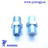Ajustage de précision hydraulique masculin droit en acier de connecteur de tuyau de Strainless