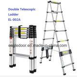 Ladder van het Aluminium van de Kruk van de stap de Vouwbare (sh-LF04F)