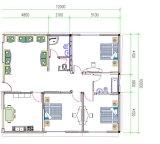 Casa pré-fabricada de vida do tamanho grande da família