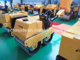 Mini rodillo vibratorio de la rueda de acero peatonal para la venta (FYLJ-S600C)