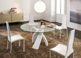 6mm/8mm/10mm/12mm ronds/glace Tempered de table de cercle avec les bords coniques