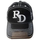 Gorra de béisbol lavada manera con 3D la insignia Gjwd1717