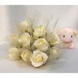 La última decoración casera con Flowers07 artificial