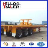 remorque à plat de camion de remorque de transport de conteneur de 20FT/40FT/45FT avec la suspension de sac d'air