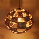Nuevo diseño moderno artístico de papel cordón tejido lámpara colgante