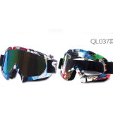 Lunettes colorées de moto de lentille/verres de sûreté protecteurs en verre/(AG011)