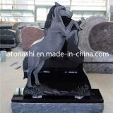 Shanxi Black Granite Angel Grave Stone Headstones con Butterfly
