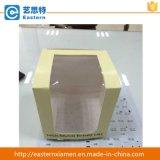 Caixa de bolo de papel do papel da fantasia da caixa do alimento com o indicador desobstruído do PVC