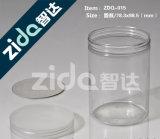 La plastica trasparente può con la maniglia, inchieste di scelta di qualità del barattolo di latta dei pp
