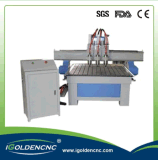 Máquina de madera del ranurador del CNC del eje de rotación multi para los muebles 2030
