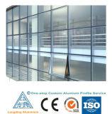 La meilleure extrusion 6063-T5 en aluminium de vente/profil en verre de mur rideau