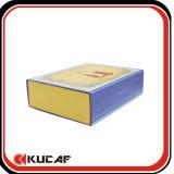 Caja de embalaje de papel plegable de la insignia de encargo
