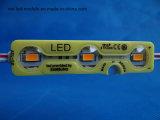 O Ce do módulo amarelo 3chips 5730SMD 1.2W Waterproof o módulo do diodo emissor de luz 12V