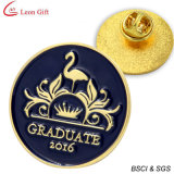 Pin de la solapa del esmalte del metal del oro del caballo para el regalo de la promoción (LM1045)