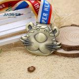 Dirigere la medaglia su ordinazione Bronze antica del fumetto di sport 3D del metallo di vendita
