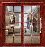 Раздвижные двери рамки двойной застеклять нутряные алюминиевые