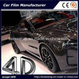 autoadesivo dell'automobile del Rolls del vinile della fibra del carbonio 4D, vinile dell'automobile