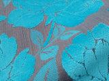 Telas florales azules modernas del sofá del terciopelo de la pila del corte