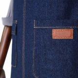 Delantales resistentes azules del peluquero de los hombres de la alta calidad de encargo