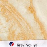 Пленка оптовой продажи мрамора нашивки желтого цвета ширины Yingcai 1m гидрографическая