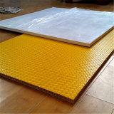 Panneau composé de nid d'abeilles renforcé par polyester antidérapage de FRP