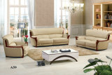 Sofà di legno, sofà di cuoio, sofà di combinazione, sofà della Cina (A59)