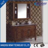 Vanità cinese domestica di legno solida bianca classica della stanza da bagno