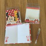Cuaderno de la libreta de la cubierta dura de encargo mini con la pluma