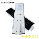 Luzes de rua solares espertas do controle do APP do telefone com controlador de MPPT e sensor de movimento