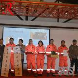 Het waterdichte Kostuum van de Regen van Brandweerlieden voor Redding (qf-001)
